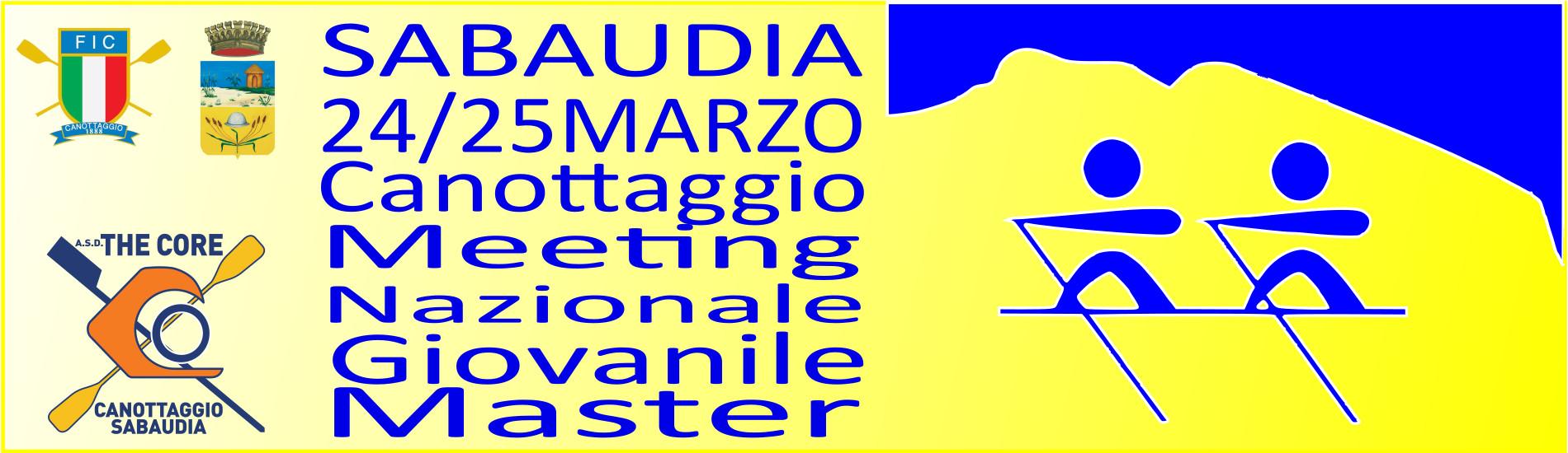 Sabaudia 24/25 Marzo Meeting Nazionale Giovanile e Master